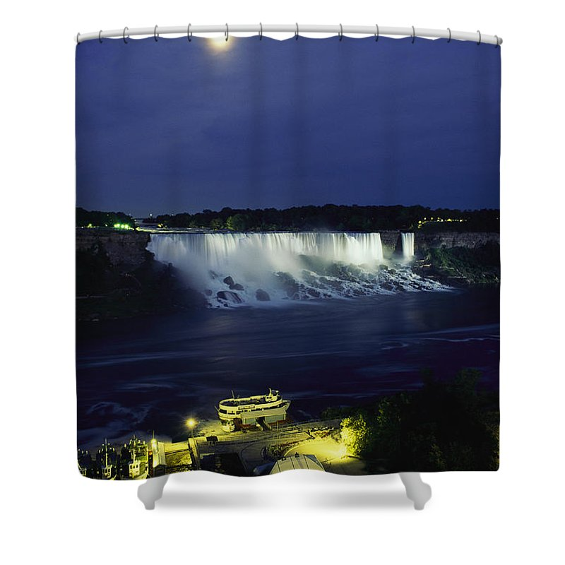 North America Shower Curtain featuring the photograph American Side Of Niagara Falls, Seen by Richard Nowitz