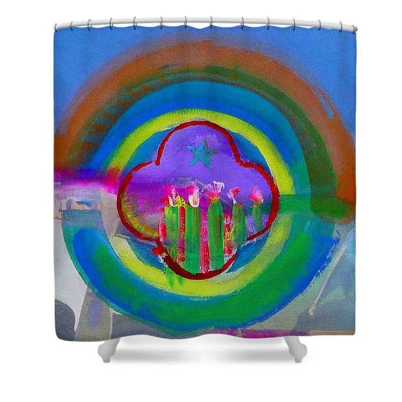 Love Shower Curtain featuring the painting American Spring by Charles Stuart