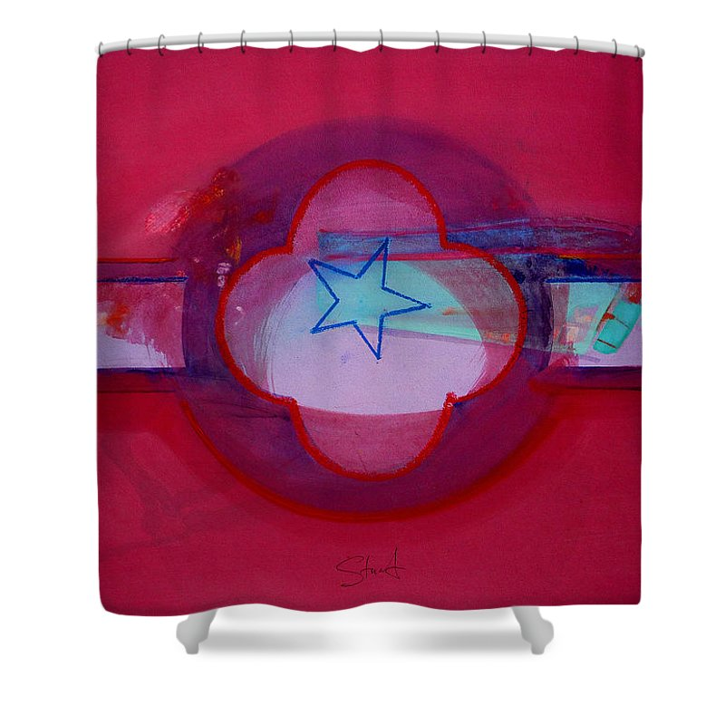 Star Shower Curtain featuring the painting American Star Of The Sea by Charles Stuart