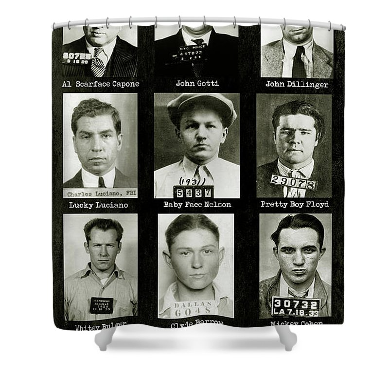 Baby Face Nelson Shower Curtains