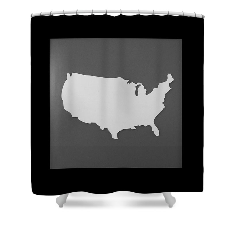 Black And White Shower Curtain featuring the photograph Amerika by Rob Hans