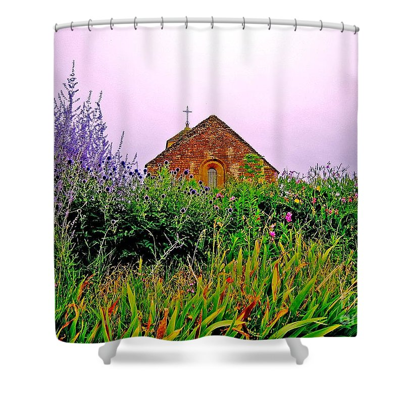 Chapel Shower Curtain featuring the photograph Ameugny 3 by Jeff Barrett