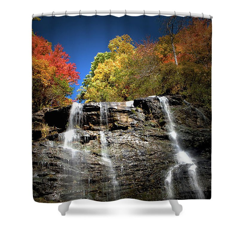 Amicalola Shower Curtain featuring the photograph Amicalola Falls by Dick Goodman