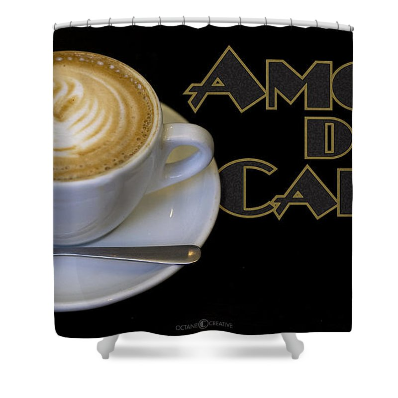 Coffee Shower Curtain featuring the photograph Amore Del Caffe Poster by Tim Nyberg