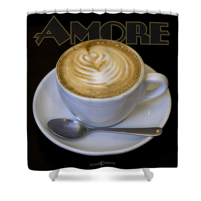 Coffee Shower Curtain featuring the photograph Amore Poster by Tim Nyberg