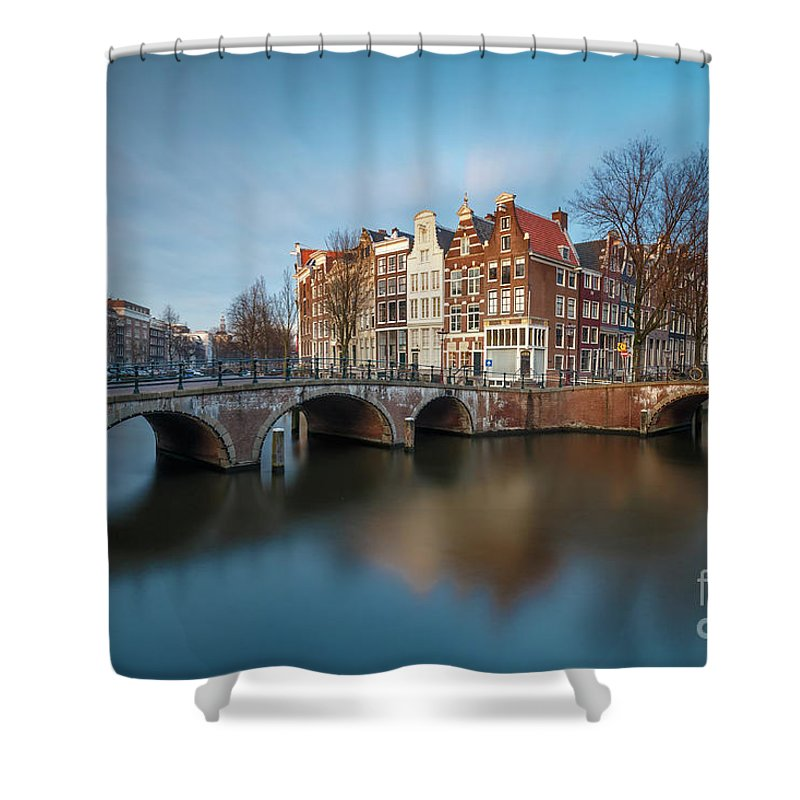 Amsterdam Shower Curtain featuring the photograph Amsterdam Canal by Menno Schaefer