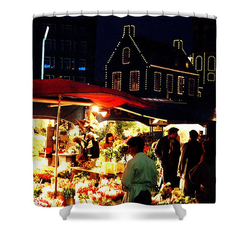 Flowers Shower Curtain featuring the photograph Amsterdam Flower Market by Nancy Mueller