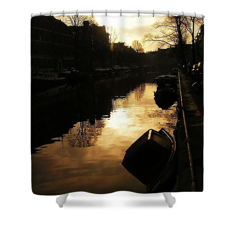 Landscape Shower Curtain featuring the photograph Amsterdam Netherlands by Louise Macarthur Art and Photography