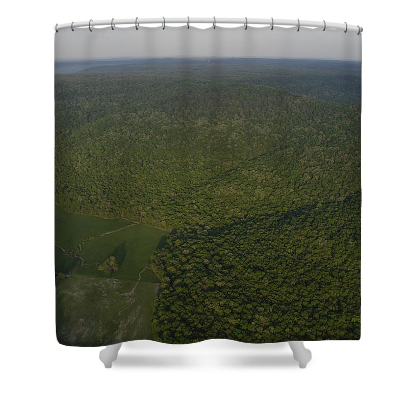 Cumberland Plateau Shower Curtain featuring the photograph An Aerial View Shows The Cumberland by Stephen Alvarez