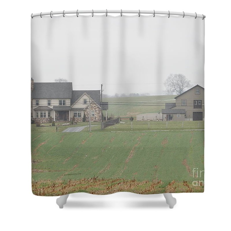 Amish Shower Curtain featuring the photograph An Amish Family Home by Christine Clark