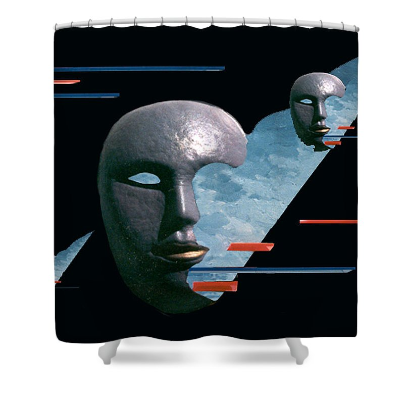 Surreal Shower Curtain featuring the digital art An Androids Dream by Steve Karol