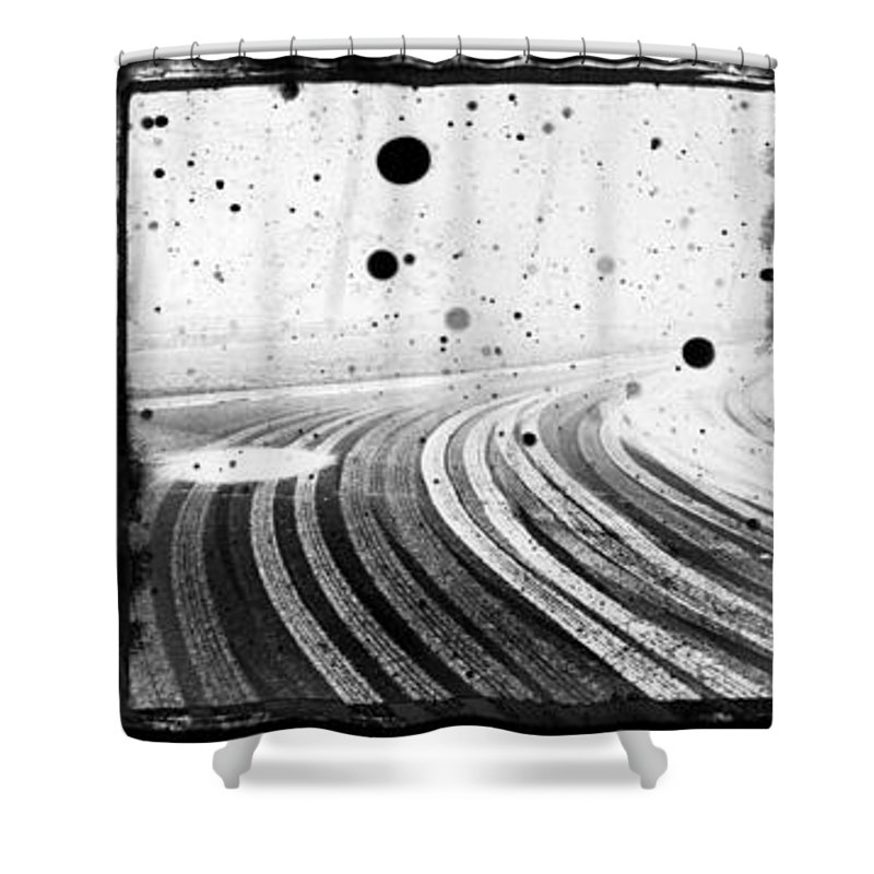 Art Shower Curtain featuring the photograph an English winter - number II by Dorit Fuhg