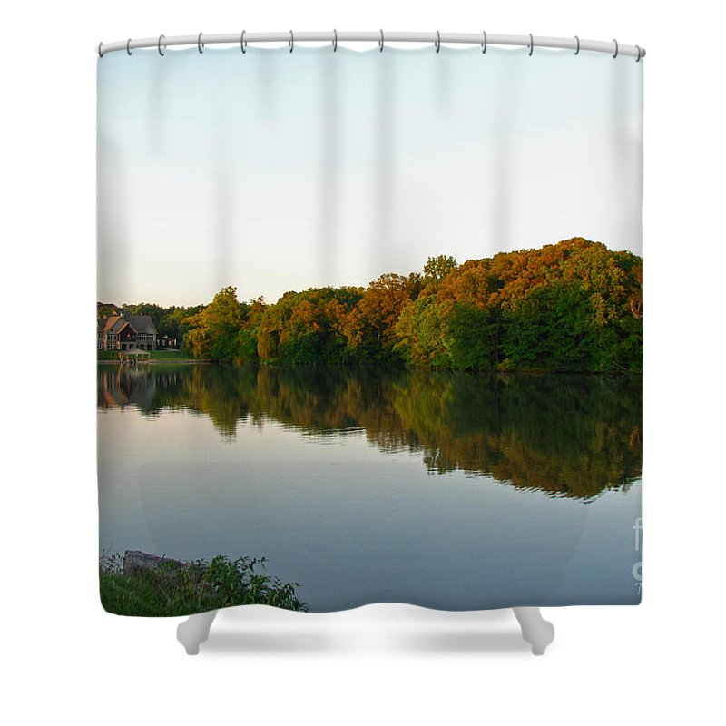 Landscape Shower Curtain featuring the photograph An Excellent Vantage Point by Todd Blanchard