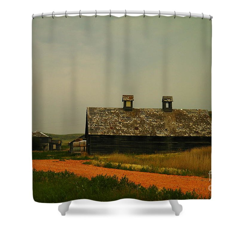 Montana Shower Curtain featuring the photograph An Old Montana Barn by Jeff Swan