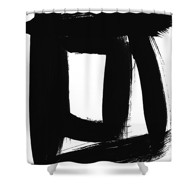 Black Shower Curtain featuring the painting An Open Window- Art By Linda Woods by Linda Woods