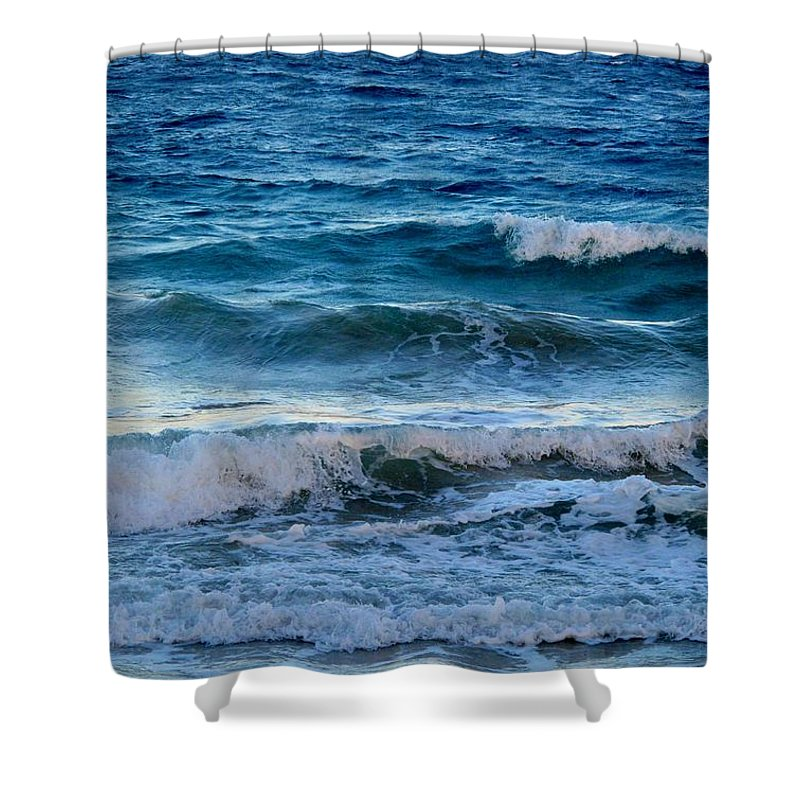 Sea Shower Curtain featuring the photograph An Unforgiving Sea by Ian MacDonald