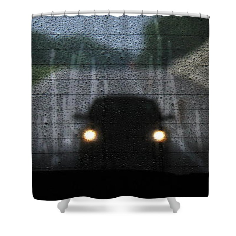 An Unwelcome Guest Shower Curtain featuring the photograph An Unwelcome Guest by Ed Smith