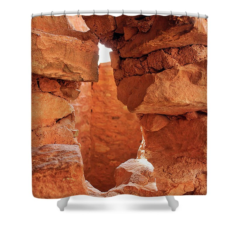 Cliff Dwellings Shower Curtain featuring the photograph Anasazi Cliff Dwellings #8 by Lorraine Baum