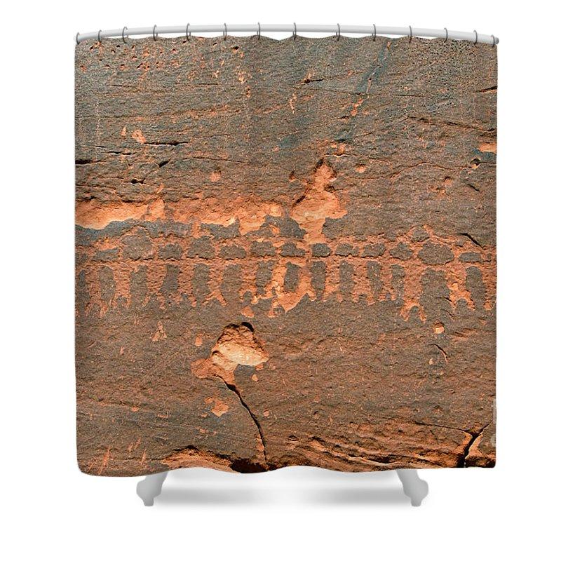 Anasazi Shower Curtain featuring the photograph Anasazi Dancers by David Lee Thompson