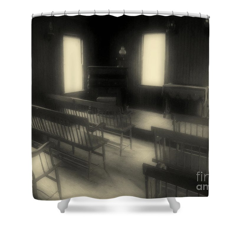 Benches Shower Curtain featuring the photograph Ancestor Worship by RC DeWinter