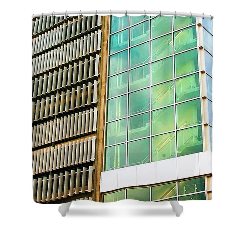 Alaska Shower Curtain featuring the photograph Anchorage Alaska Architecture by Chuck Kuhn