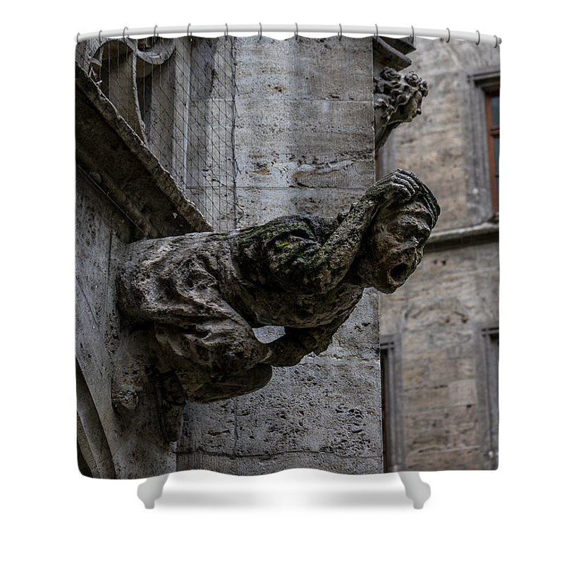 M�nchen Munich Germany Bavaria Shower Curtain featuring the photograph Ancient Guardian by Terry Baldridge