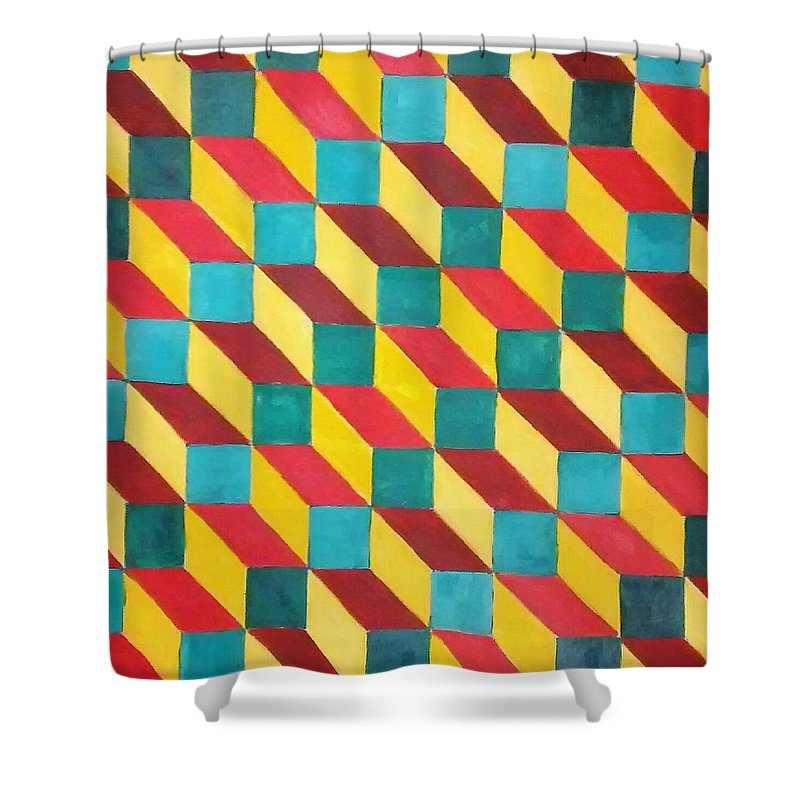 Rasta Art Shower Curtain featuring the painting Ancient Rasta by Andrew Johnson