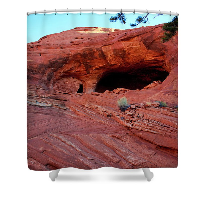 Mystery Valley Shower Curtain featuring the photograph Ancient Ruins Mystery Valley Colorado Plateau Arizona 01 by Thomas Woolworth