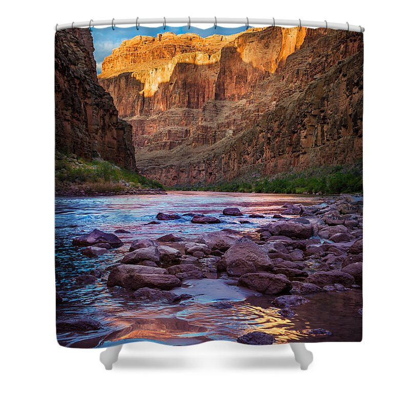 America Shower Curtain featuring the photograph Ancient Shore by Inge Johnsson