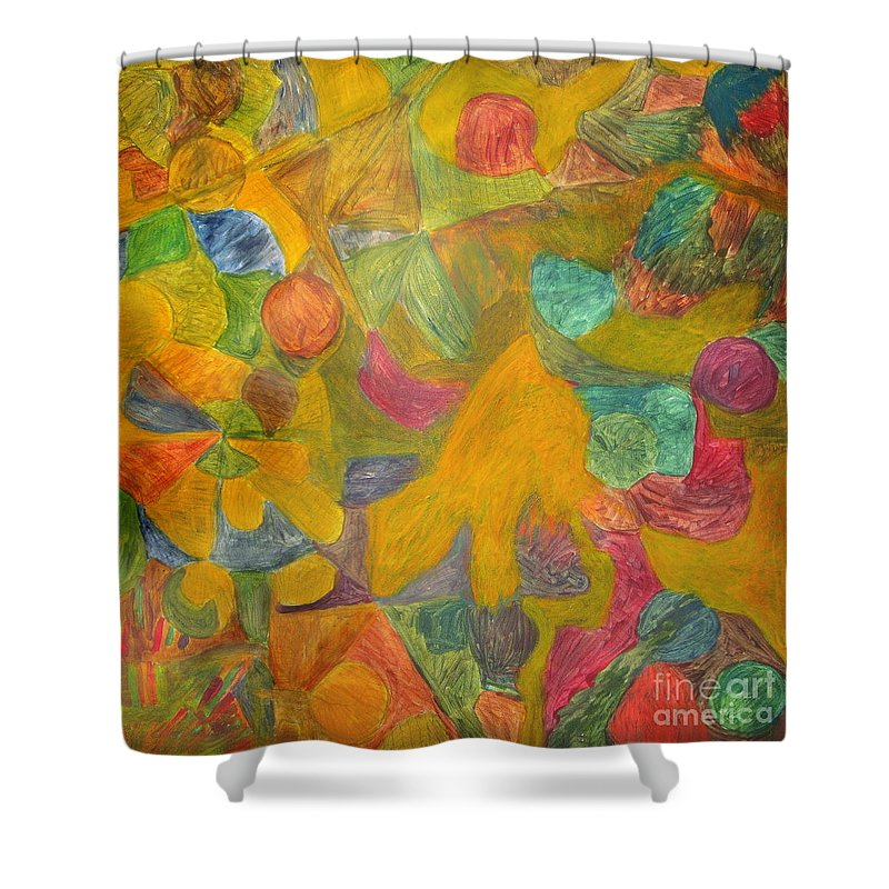 Eunice Broderick Paintings Shower Curtain featuring the painting Ancient Times by Eunice Broderick