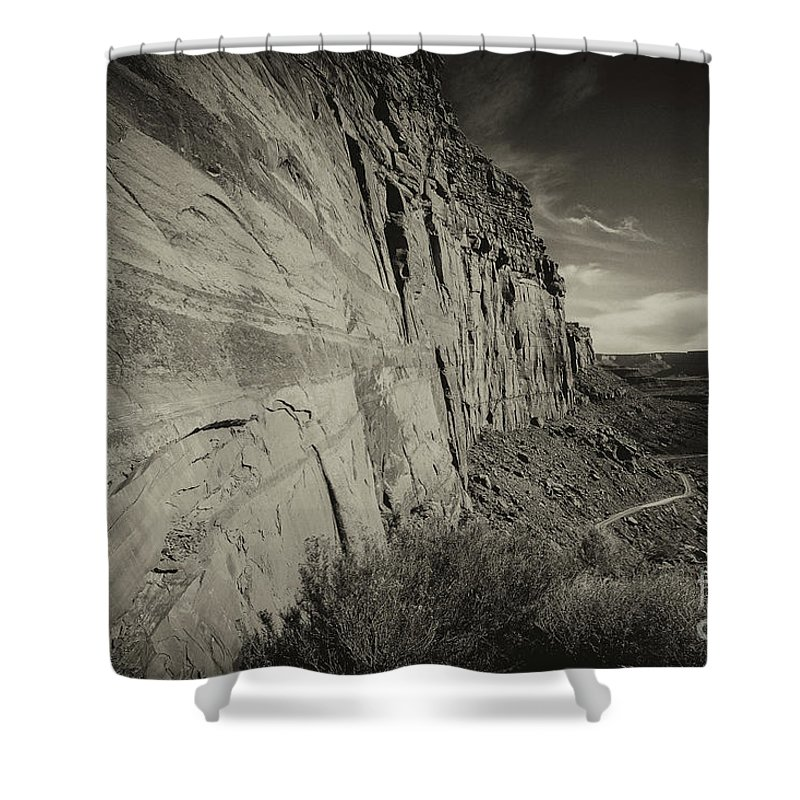 Utah Landscape Shower Curtain featuring the photograph Ancient Walls by Jim Garrison
