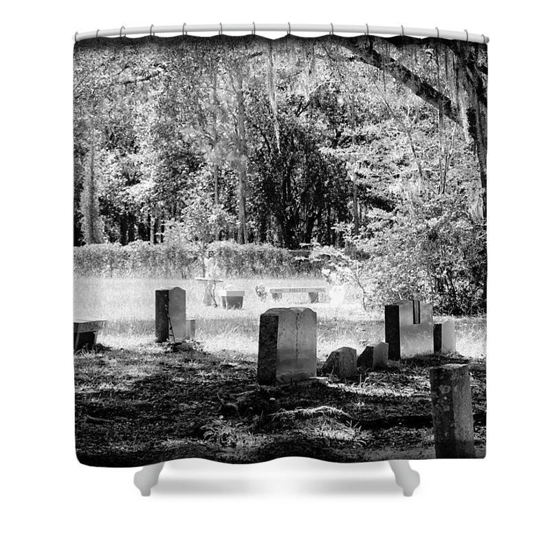 Shannon Shower Curtain featuring the photograph And Here We Rest by Shannon Sears