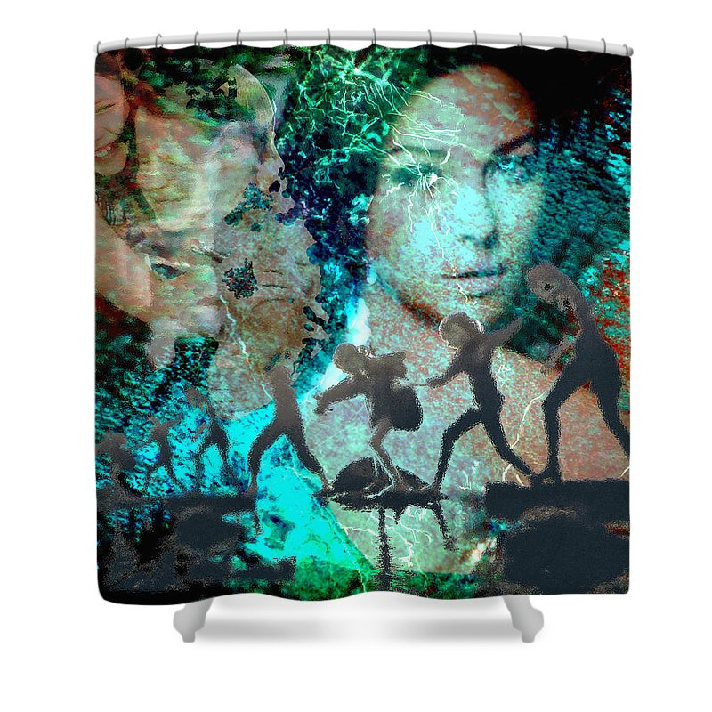 Childhood Shower Curtain featuring the digital art And That Reminds Me by Seth Weaver