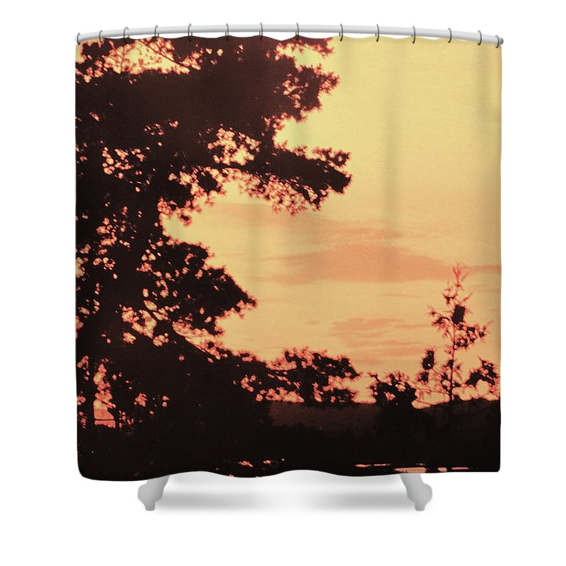 Lake Shower Curtain featuring the photograph And Then A Loon Called by Ian MacDonald