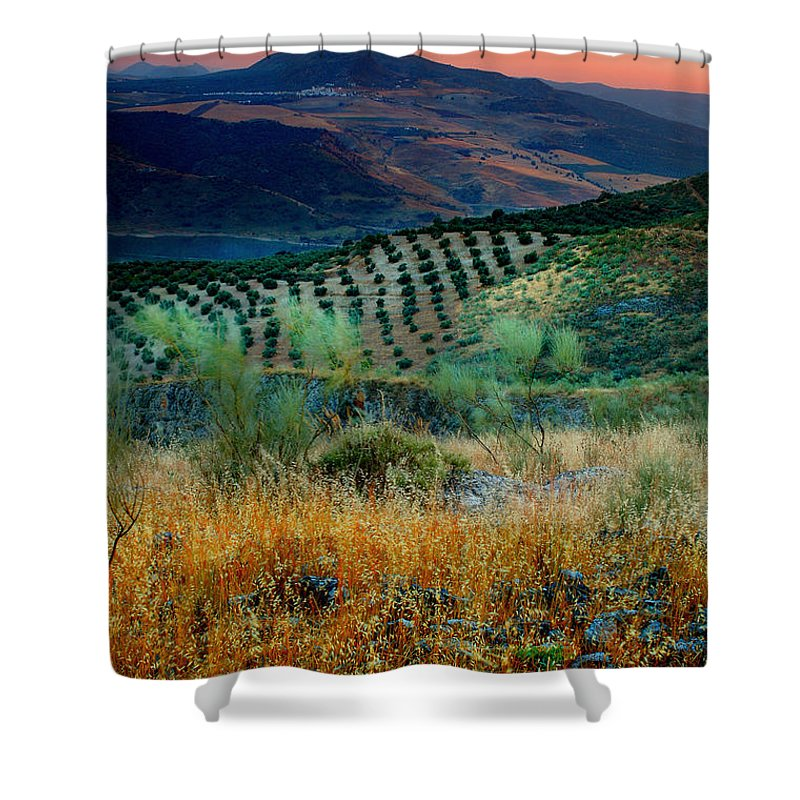 Andalucia Shower Curtain featuring the photograph Andalucian Landscape by Mal Bray