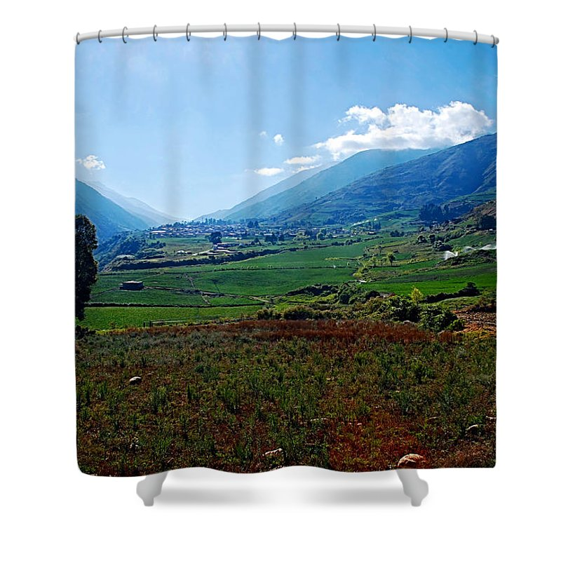 Mountains Shower Curtain featuring the photograph Andes by Galeria Trompiz