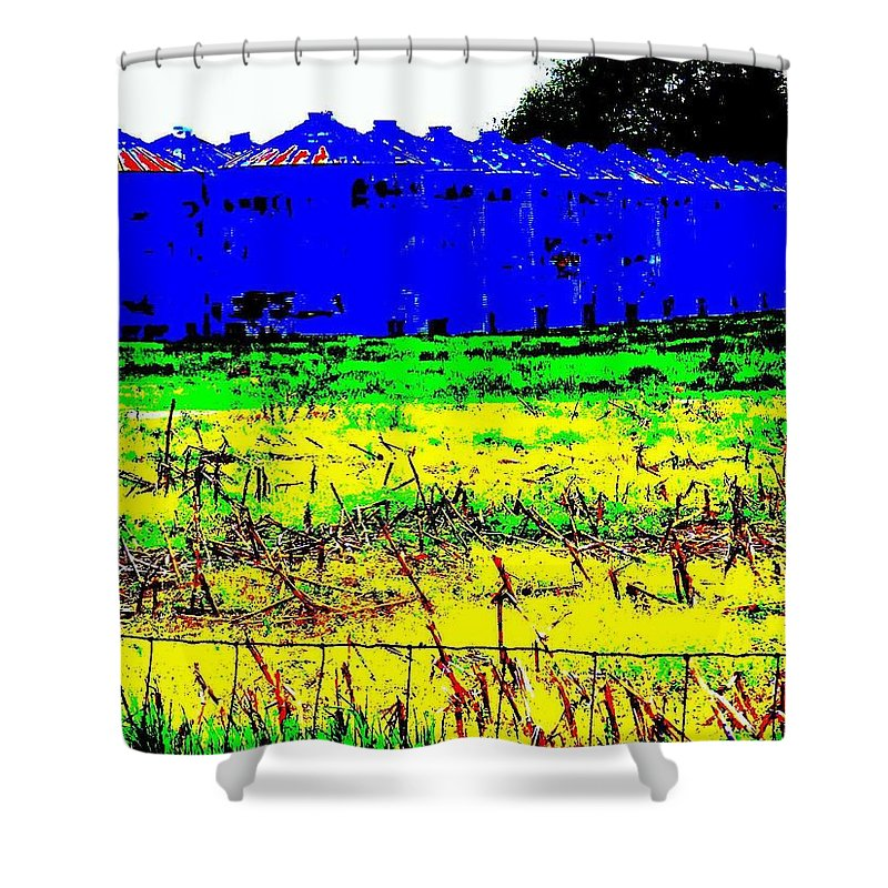 Landscape Shower Curtain featuring the photograph Andys Farm by Ed Smith
