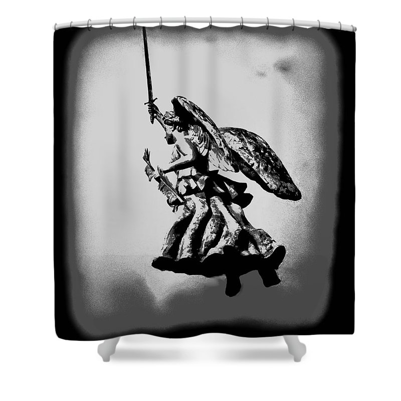 Angel Shower Curtain featuring the photograph Angel Of Gettysburg by Bill Cannon