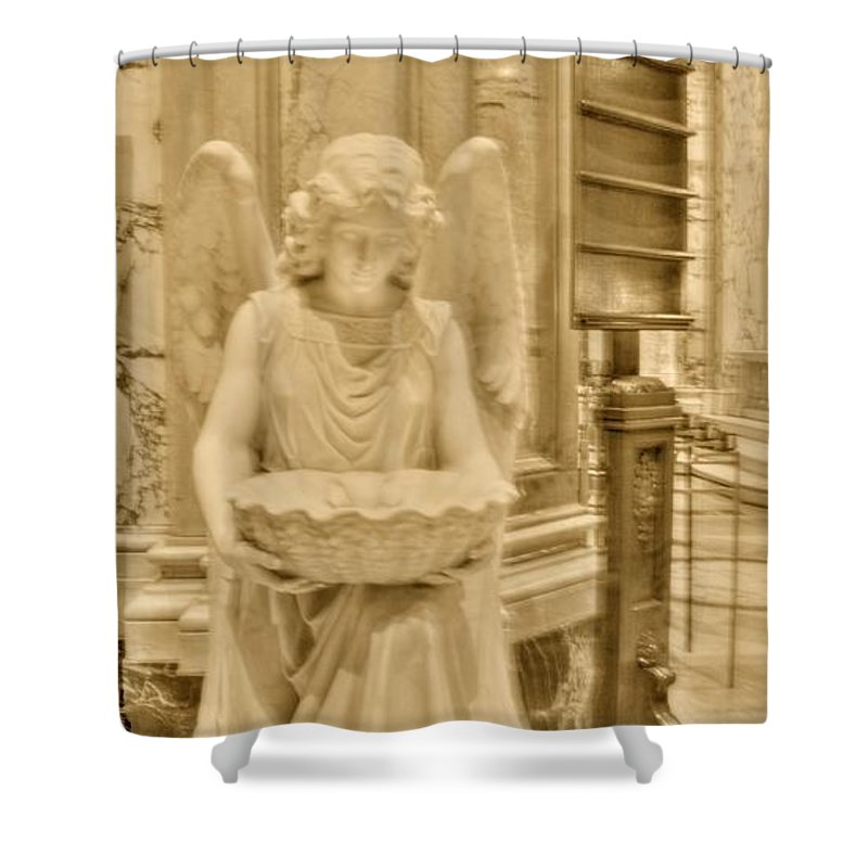 Angel Shower Curtain featuring the photograph Angel Of Love by Kathleen Struckle