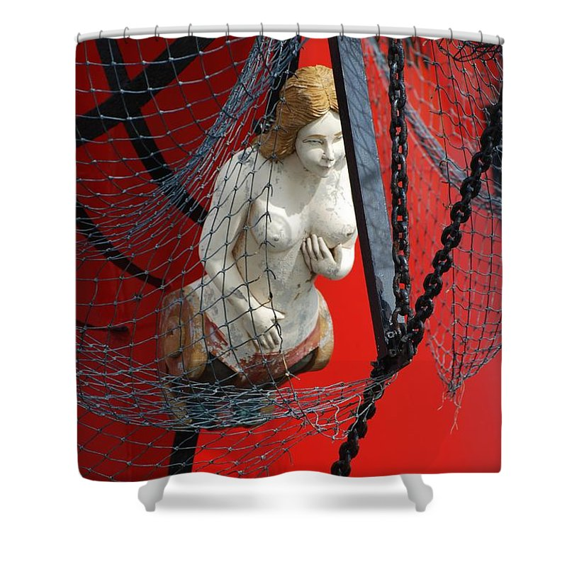 Ship Shower Curtain featuring the photograph Angel Of The Seas by Rob Hans