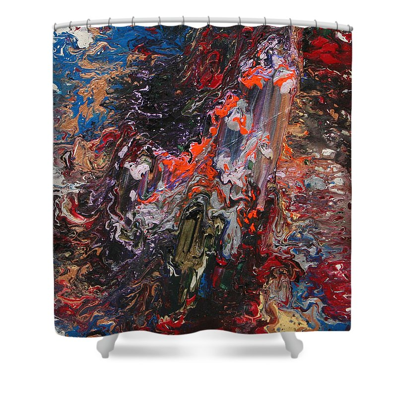 Fusionart Shower Curtain featuring the painting Angel Rising by Ralph White