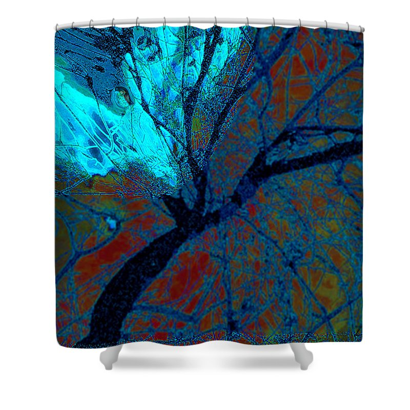 Peace Shower Curtain featuring the digital art Angel by Zsanan Narrin