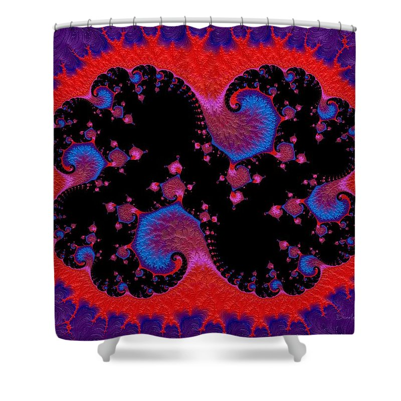 Angora Shower Curtain featuring the digital art Angora Butterfly by Diane Lindon Coy
