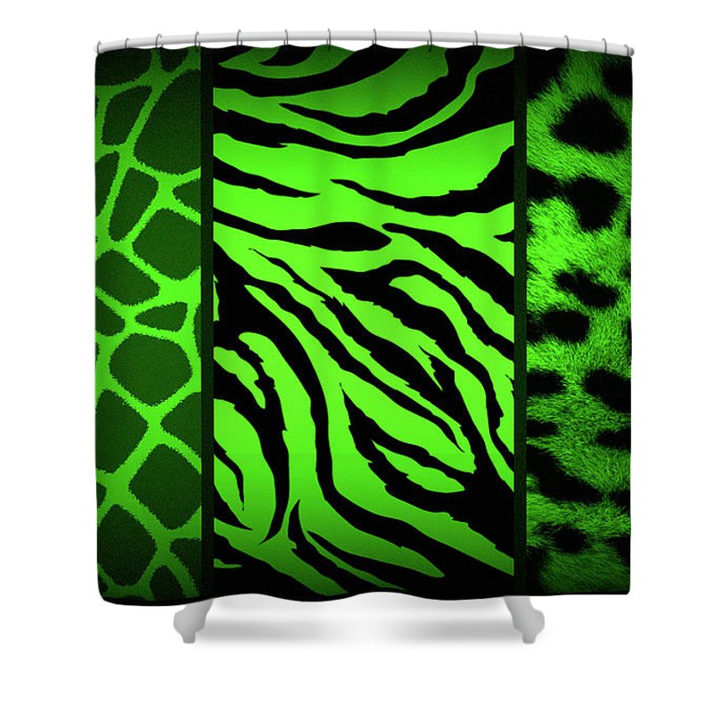 Prints Shower Curtain featuring the photograph Animal Prints by Donna Bentley
