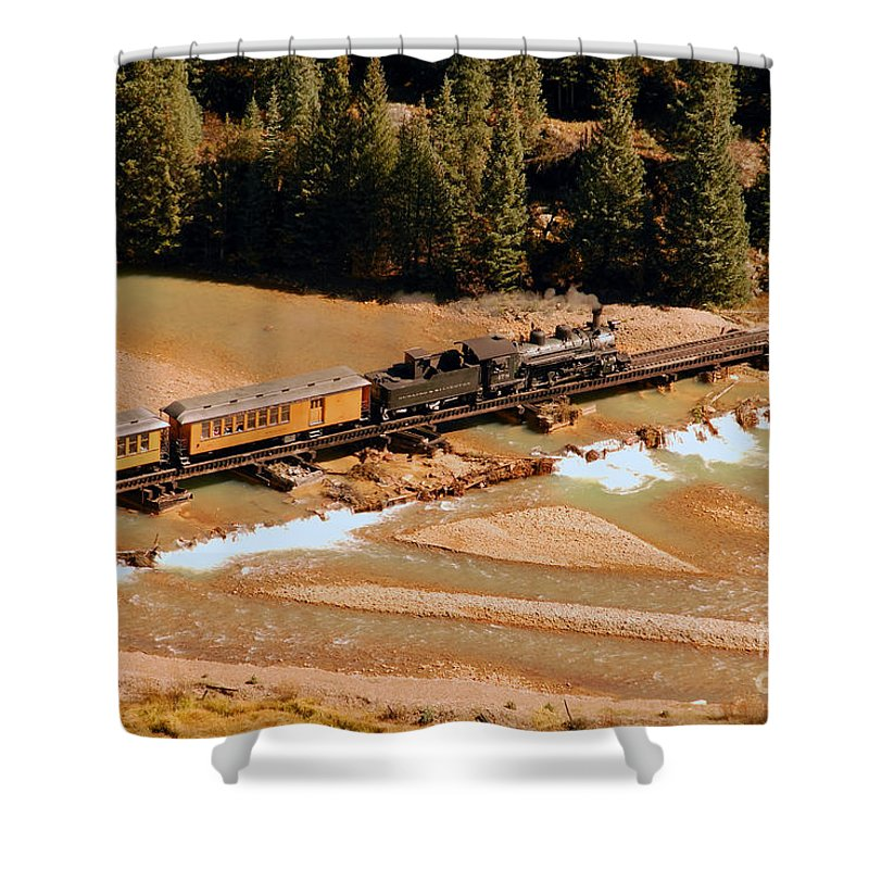 Animas River Shower Curtain featuring the photograph Animas River Crossing by David Lee Thompson