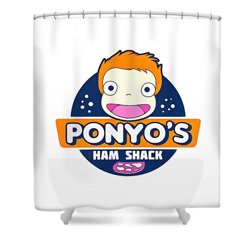 Animation Shower Curtain Featuring The Drawing Japan By Milea Lya