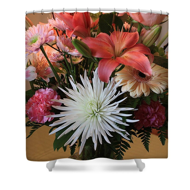 Bouquet Shower Curtain featuring the photograph Anniversary Card by Carol Groenen