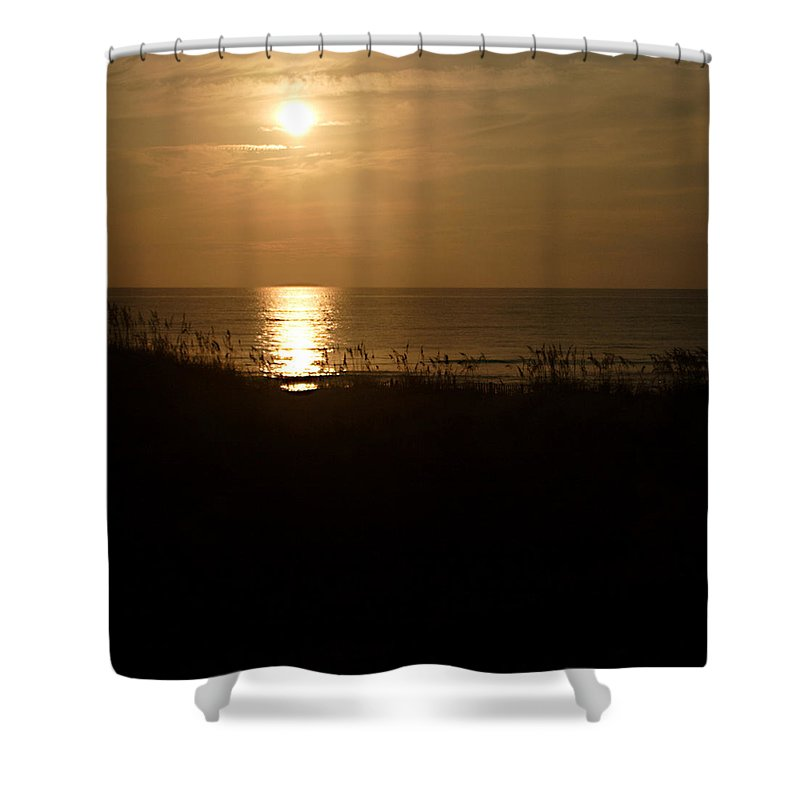 Color Shower Curtain featuring the photograph Another Day Ends by Jean Macaluso