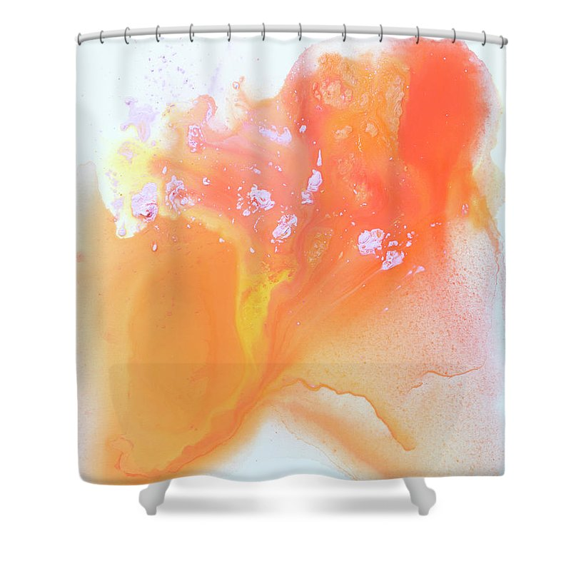 Abstract Shower Curtain featuring the painting Another Love by Claire Desjardins