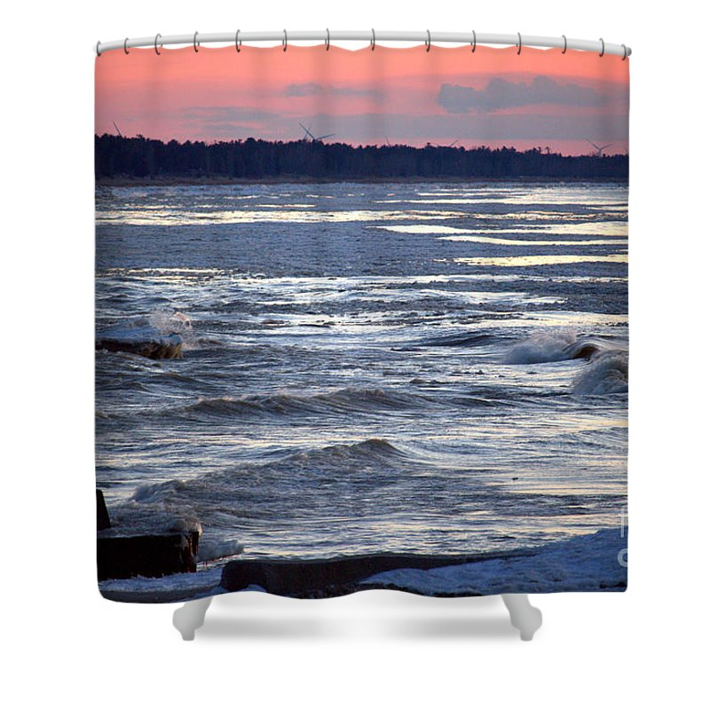 Grand Bend Shower Curtain featuring the photograph Another Night 2 by John Scatcherd